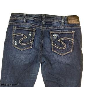 Silver Suki Mid Straight Super Stretch Jeans sz 32